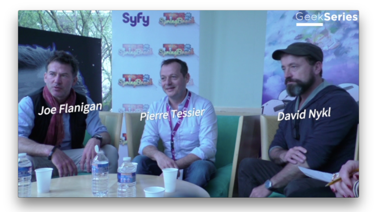 Interview de Joe Flanigan, Pierre Tessier et David Nykl
